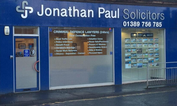 image of the exterior of Jonathan Paul Solicitors branch